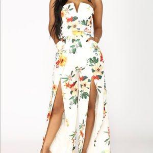 Floral Ivory Jumpsuit